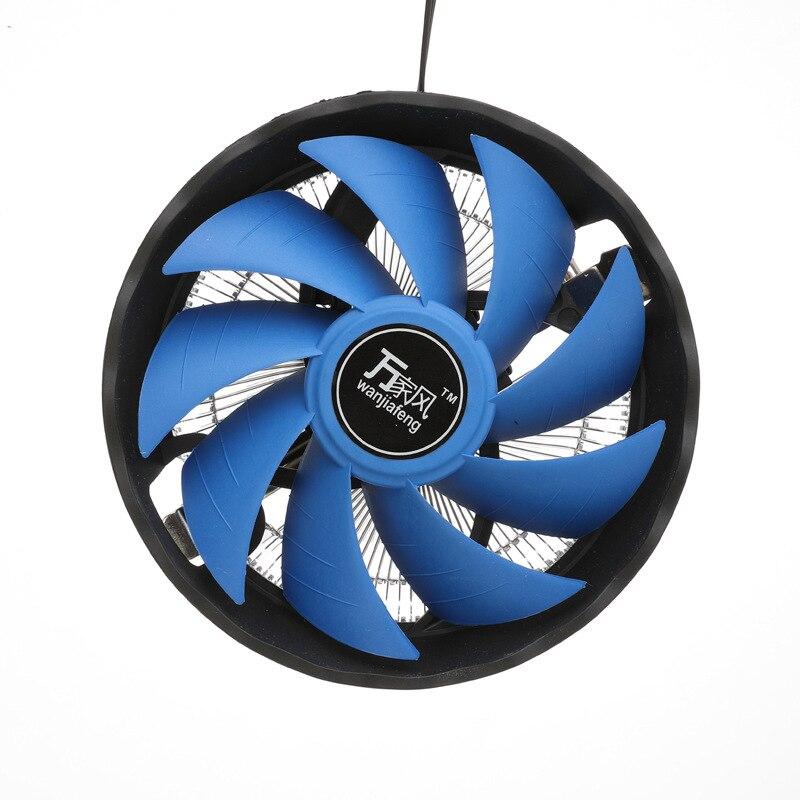 125mm Computer CPU Cooling Fan Radiator Mute 12V 3 Pin PC CPU Cooler Heatsink For Inter 1156/ 1155/ 1150/ 775 AMD AM2/ AM2+/ AM3 цена и фото