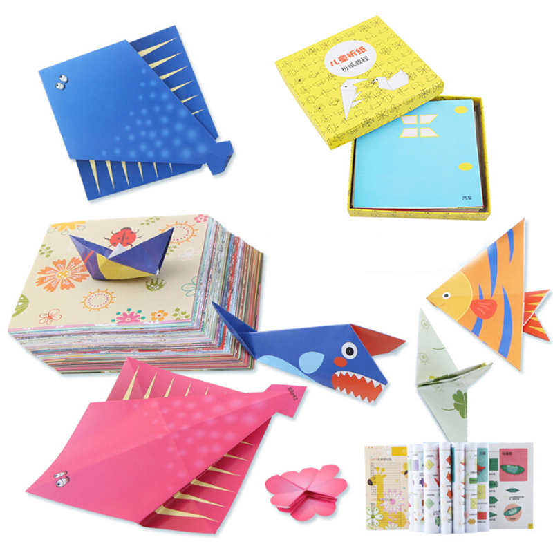 200pcs Children Paper Folding Handmade Diy Toy Craft Kit With Instruction Manunal For Kids Birthday Toy Gifts 2019 Official