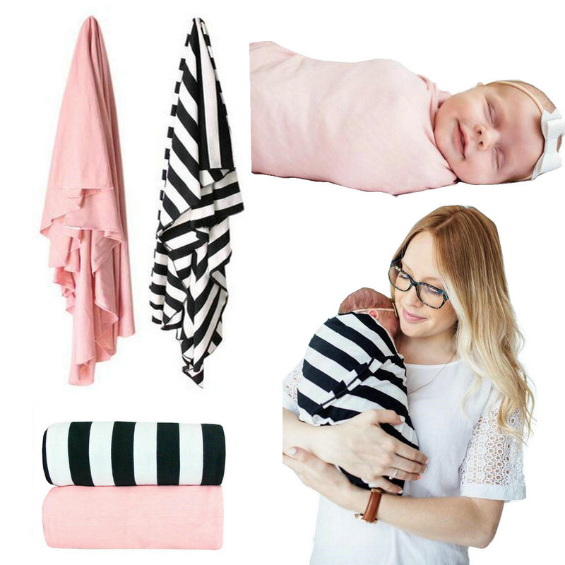 2 Pack Soft Baby Swaddle Blanket Newborn Infant Summer Bedding Receiving Blankets 100% Cotton Shower Gift Bedding for Girl Boy flannel newborn baby swaddles blanket autumn organic color cotton boy girl infant wrap winter blankets swaddling soft bedding