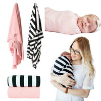 2 Pack Cotton Baby Swaddle Blanket Newborn Infant Summer Outside Wrap Soft Blankets Best Nursery Set
