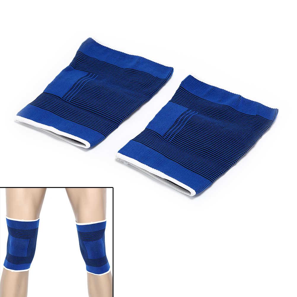 2 uds deportes al aire libre cojín para rodillas hombres apoyo de las mujeres. La pierna para artritis y lesiones gimnasio manga elástica venda Pad profesional soporte de rodilla