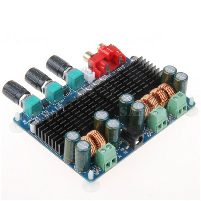 TPA3116 2.1 canais 50 w + 50 w + 100 w (baixo) placa de amplificador de potência Digital