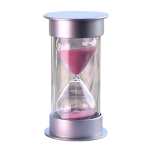 MYLB Decoração Ampulheta Ampulheta Areia Relógio Ampulheta Ampulheta 15 Minutos Temporizador De Cristal De Plástico rosa
