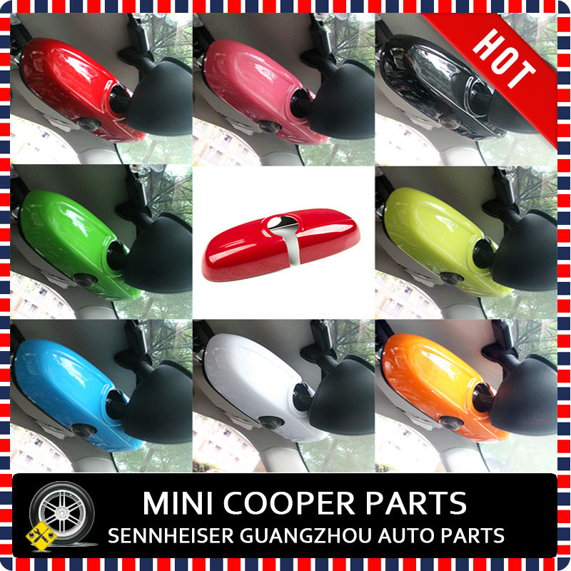 Последние mini cooper ABS Материал УФ-защитой внутреннее зеркало крышка мини Рэй Стиль красного цвета для Mini cooper F56(1 шт./компл