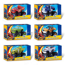 2016 6pcs/set blaze and the monster machines diecasts toy vehicles Transformation car Toys With Original Box Best Gifts For Kids