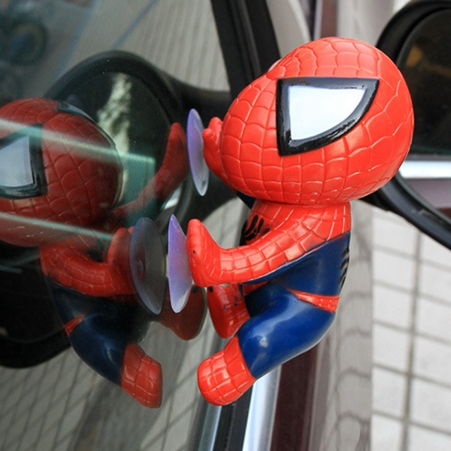 Escalada Do Homem Aranha Decoração Ornamentos Interior Do Carro Styling Acessórios Dashboard Spider Man Janela Otário Spider-Man Boneca de Brinquedo