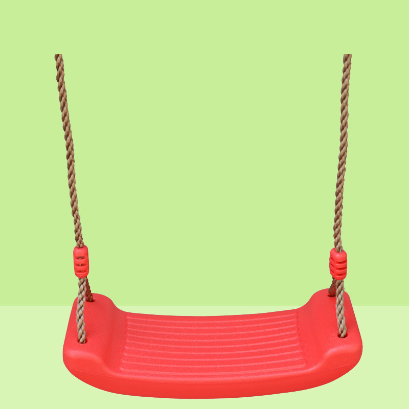 Outdoor Children Swings Indoor Hanging Chairs Bending Board Swing Seat With Rope Kids Playground Swing Children Leisure Toy Leather Bag