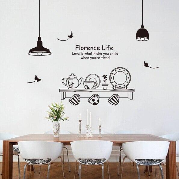 Kitchen Cooking Tools Wall Sticker Vinyl Kitchen Wallpaper Cuisine Decor  Poster Home Decor Adesivo Parede Wall
