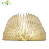 LEDGLE Foldable Book Light Rechargeable LED Night Light Creative Book Shaped Lamp For Decor Warm White