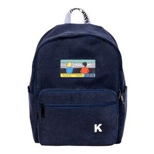 Image 2 - Creative ומעשי ורוד וכחול כהה קורדרוי רקמת תרמילי עבור בתי ספר ונוסע סצנה סדרה (כיף KIK)