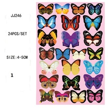 PVC 3D Simulation Butterfly Removable Waterproof DIY Art Wall Stickers Gift Fridge Magnet For Home Wedding Bedroom Decor  6Z