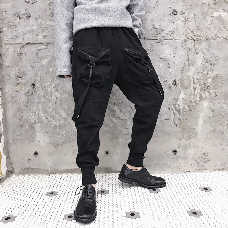 Cargo Pants Pants 2019 Man Streetwear Pockets Harem Pants