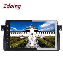 Idoing 2 GB + 16G Lenkung-Rad 1Din Android6.0 Für BMW E46/320/325 Auto DVD Multimedia Player Navigation Eingebauter 3G Baumeln Radio