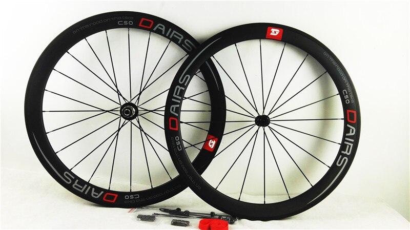 Carbone roues powerway R13 pilier 1432 route pneu 700C 50mm roues vélo route roues 25mm U forme UD mat roue de bicyclette