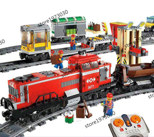 New Model building kits compatible with lego TRAIN SERIES 3D blocks Educational toys hobbies for children lepin 02012 city deepwater exploration vessel 60095 building blocks policeman toys children compatible with lego gift kid sets
