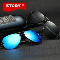 История мужские woomens поляризованные солнцезащитные очки Брендовые дизайнерские aviador Очки классический большой солнцезащитных очков Óculos ...