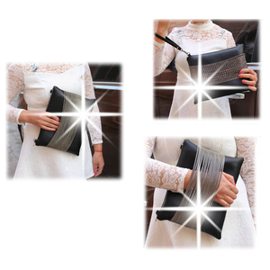Image 5 - Quality Guarantee ! 2018 women black leather Purses And Handbags evening clutch bags Day Clutches