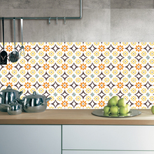DIY Tile Sticker Floor Stickers Anti-Slip Removable Self-Adhesive Waterproof Wall Sticker Vintage Style Flower Wall Sticker flower patchwork ceramic tile sticker 5pcs