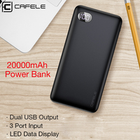Cafele Power Bank 20000mAh LED Display Portable Charge Powerbank External Battery For iPhone Xiaomi mi Fast Charging Poverbank