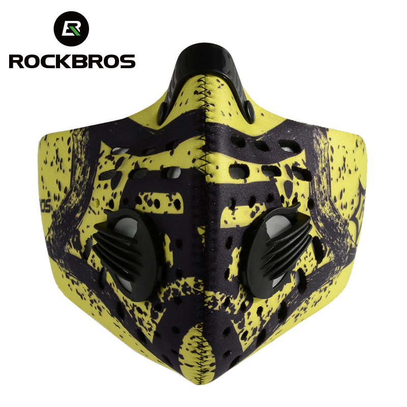ROCKBROS Cycling Face Mask Activated Carbon Anti-Pollution Cycling Mouth-Muffle Mask With Filter Dustproof Sports Face Cover