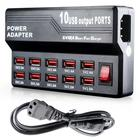 2018 New High Quality 10 Port Fast USB Charging Station Power Adapter Wall Travel Desktop Charger Hub promotion low price