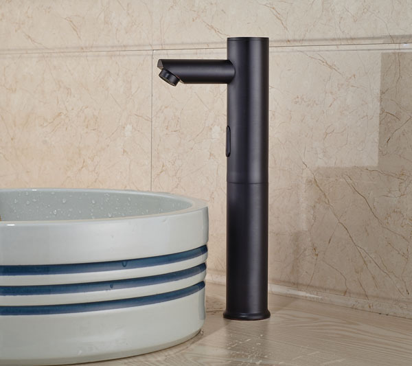 Deck Mount Solid Brass Taller Auto Sensor Bathroom Sink Faucet ...
