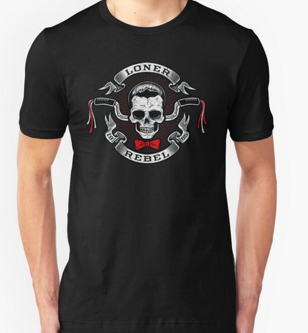 men t shirt 2016 tees summer style fashion men t shirt short sleeve Men`s The Rebel Rider Print sleeved cotton fashion