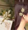 Hot New Fashion Wedding Hair Accessories Gold Textured Olive Leaf Beautiful Bride Jewelry Hair Clip Hair Pin Hair wear