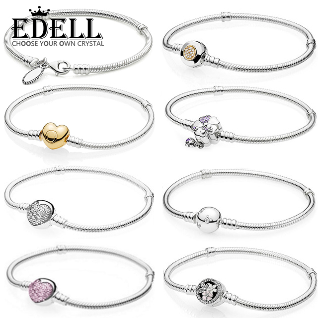 EDELL S925 Sterling Silver Shine MOMENTS Two-Tone Signature SPARKLING HEART Pink POETIC BLOOMS WILDFLOWER MEADOW BraceletEDELL S925 Sterling Silver Shine MOMENTS Two-Tone Signature SPARKLING HEART Pink POETIC BLOOMS WILDFLOWER MEADOW Bracelet