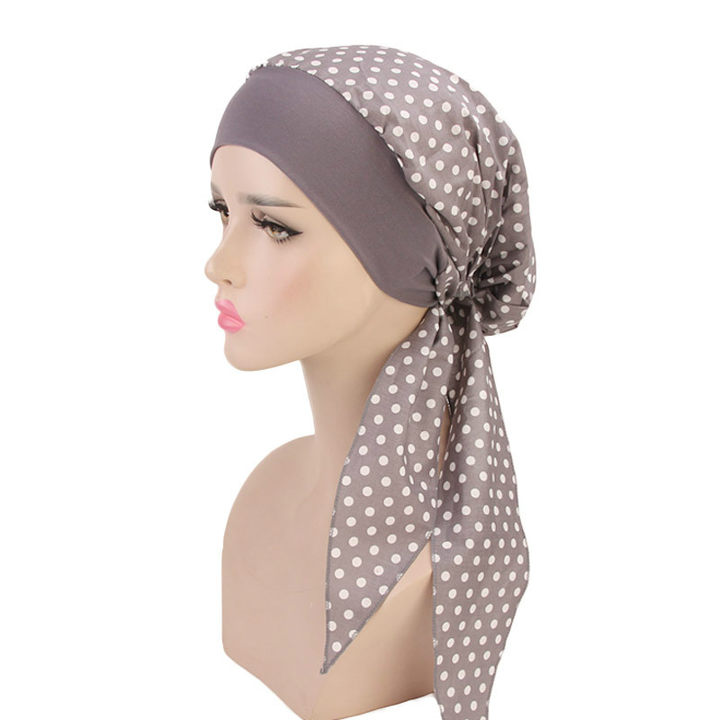 Women Elastic Inner Hijabs Hat Pastoral Style Lady Hair Bands Fashion Muslim Turban Hijabs Hats Indian Caps Wrap Cap