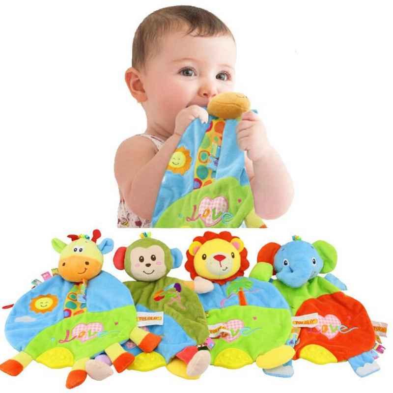 Bebek oyuncakları Yatıştırıcı Diş Kaşıyıcı Bebek Bezi Kitap Sevimli Hayvan Peluş Isırma Yenidoğan Öğrenme Erken Eğitim Oyuncaklar Kitap