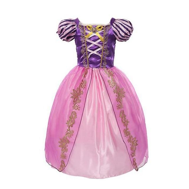 VOGUEON обувь для девочек Рапунцель косплей костюм принцессы Белоснежка Белль Золушка Спящая красавица день рождения Хэллоуин платье