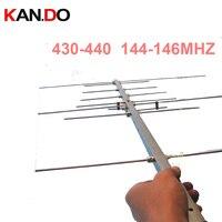 Портативная УФ-Антенна yagi 430-440 144-146 МГц 11dbi Любительская ретрансляционная антенна двухсторонняя радио антенна усиления Любительская радио ...