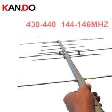 Antena portátil UV yagi 430 440 144 146MHZ 11dbi, antena para aficionados, antena de ganancia de radio bidireccional, antena de radioaficionado
