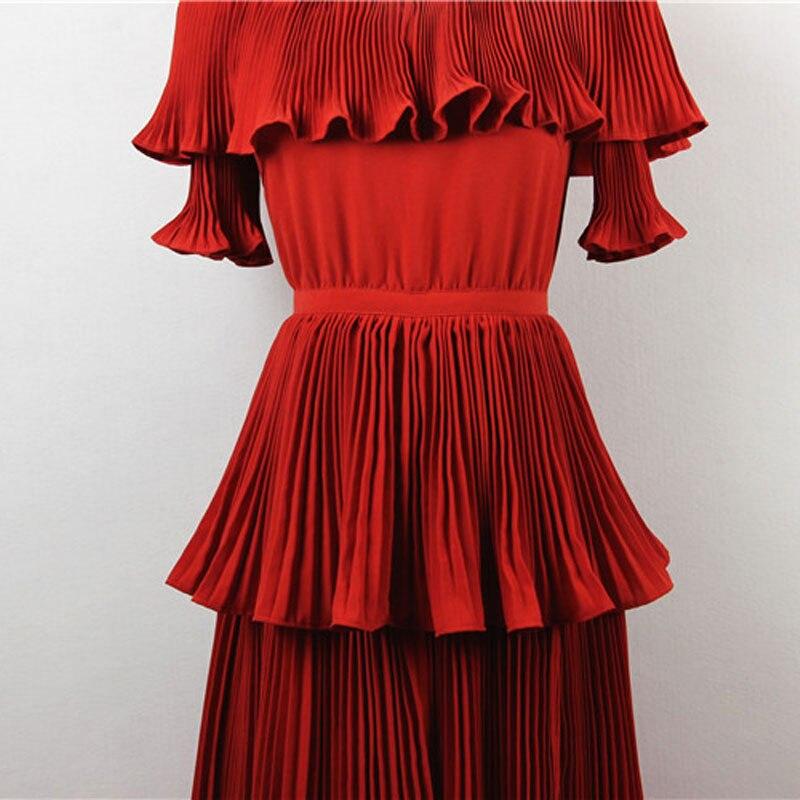Designer Color Slash D'été Hot Piste Rouge 2019 De Robe Fête Femmes rtdhsQ
