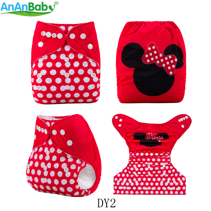 Image 2 - AnAnBaby 5pcs Choose Freely Position Printed Pocket Baby Nappies Reusable Washable With InsertsBaby Nappies
