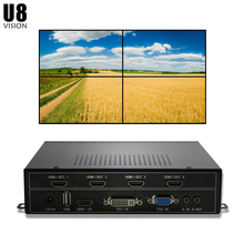 U8Vision 4CH ТВ настенный контроллер 2x2 для 4 ТВ Сращивание Поддержка HDMI/DVI/VGA/USB вход