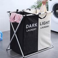 Folding Large Laundry Basket Bag Classification Oxford Laundry Bag Hamper Aluminum alloy Antirust Kitchen Cesto Colada Plegable