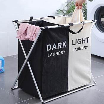 216c1cd15 Plegable grande, cesta de lavandería bolsa de clasificación Oxford bolsa de  lavandería Cesto de aleación de aluminio antioxidante cocina Cesto Colada  ...