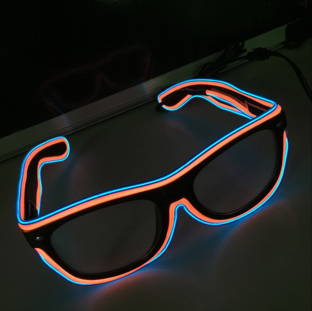 Flashing LED Light Up Party SunGlasses EL Wire Led Glasses Luminous Party Decorative Lighting Classic Gift Bright