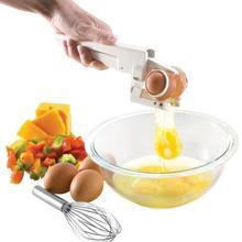 Egg Beater Stiring Egg Cracker Handheld White Separator Manual Kitchen Egg Tool Egg Separator