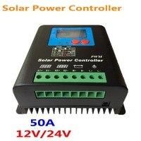 50A 60A Güneş şarj regülatörü 12 V 24 V Otomatik çalışma Pil Regülatörü  12 V 600 W PV Paneli  24 V Pil güneş paneli sistemi