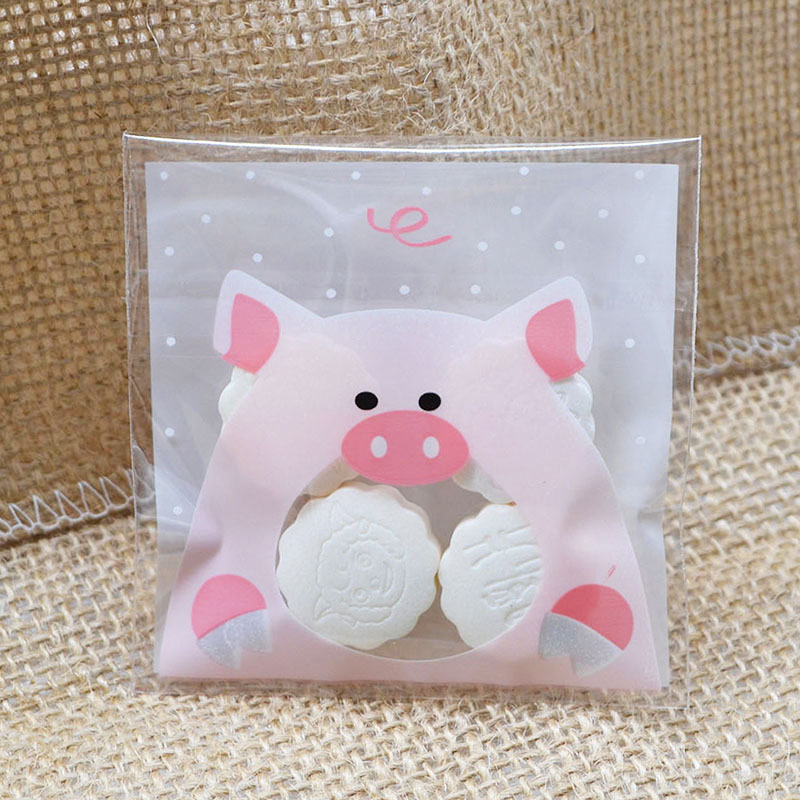 Baby Shower Plastic Bags Pig-Candy-Bag Small Birthday-Party-Supplies Wedding-Gift Self-Adhesive title=