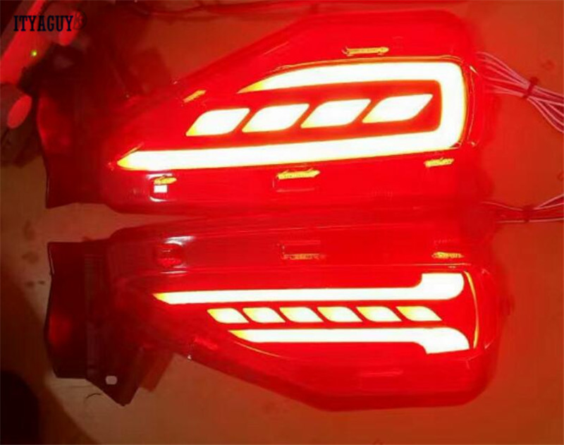 Car styling Brake Light Bumper Light Turn Signal Light For Toyota Fortuner 2015 2016 LED free shipping high quality yatour car adapter aux mp3 sd usb music cd changer 6 6pin connector for toyota corolla fj crusier fortuner hiace radios