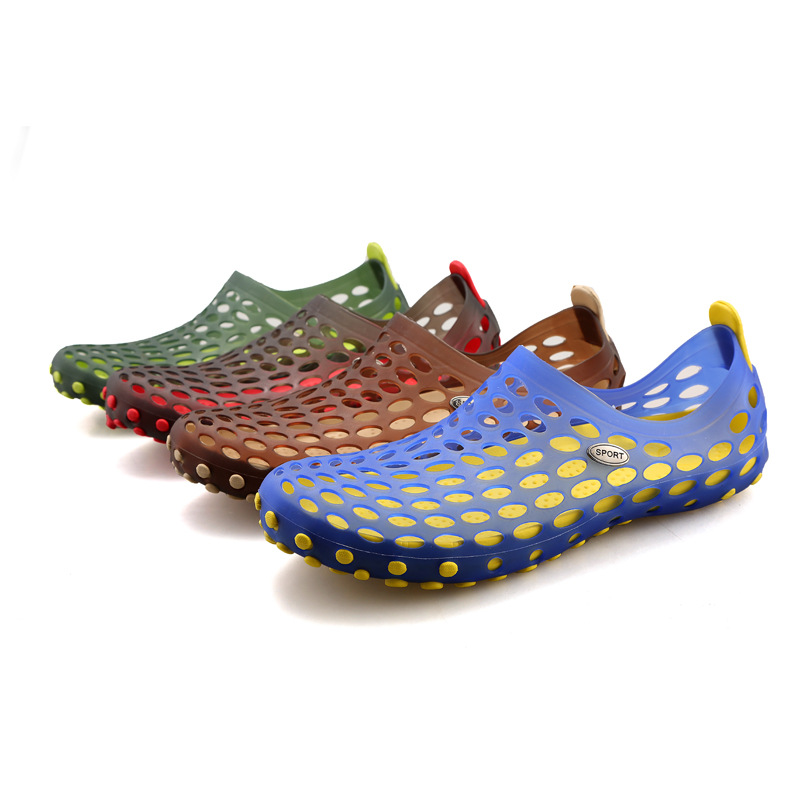 Marlong Men Women House Shoes Women Jelly Hollow Home Slippers Flip Flops Female Croc Plush Warm Room Indoor Slippers Slides