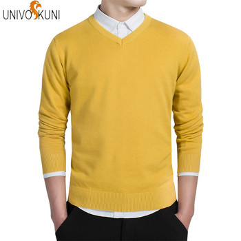 Autumn Fashion Casual Men Sweaters Pullover Slim Fit
