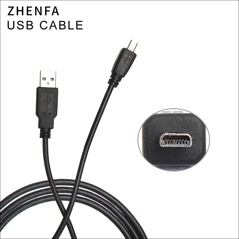 Zhenfa USB Cable for PENTAX Cameras Optio 430RS 33WR 43WR <font><b>50</b></font> 60 50L 450 550 555 750Z RZ10 RZ18 X <font><b>X70</b></font> X90 Z10 P70 P80 T10 MX4 image