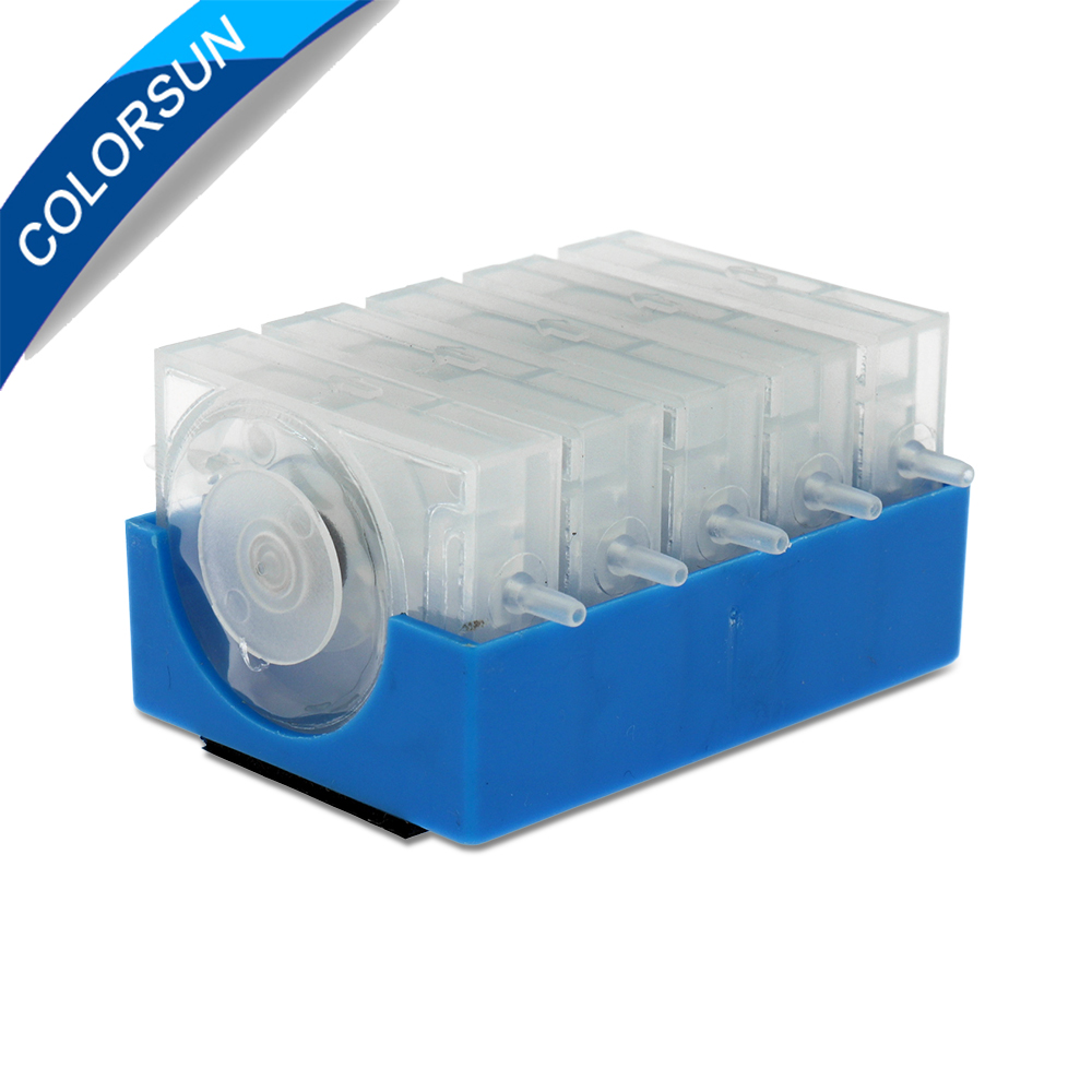 Colorsun 5 Color CISS One Way Valve Ink Damper/Ink Control Valves for CISS For Canon/For HP/For Epson/For Brother Inkjet Printer