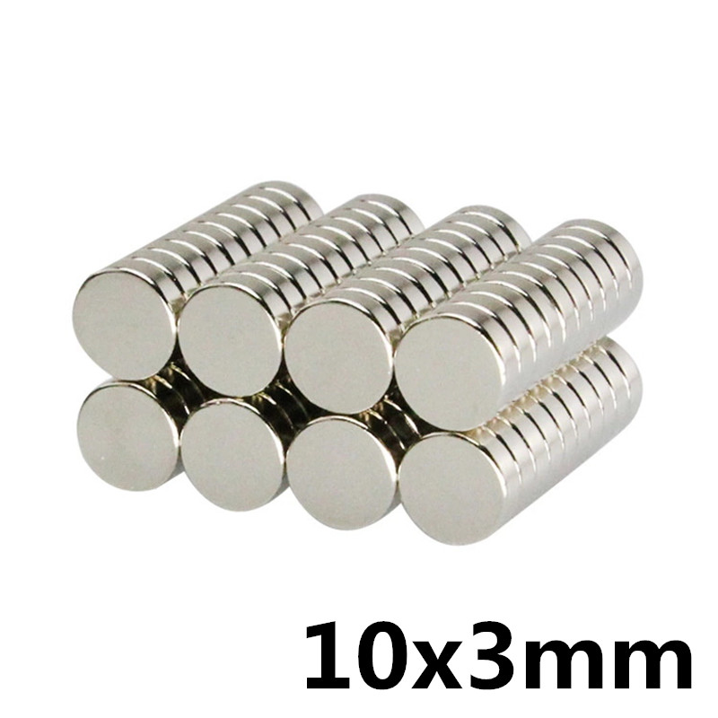 20Pcs 10mm x 3mm Strong Round Cylinder <font><b>Magnets</b></font> 10X3 Rare Earth Neodymium 10*3 image