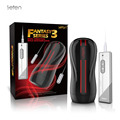 Leten 3 Dual Engine 10 Modes Vibration Electric Male Hands Free Masturbator w/ Strong Sucker, Men Sex Toys Artificial Vagina